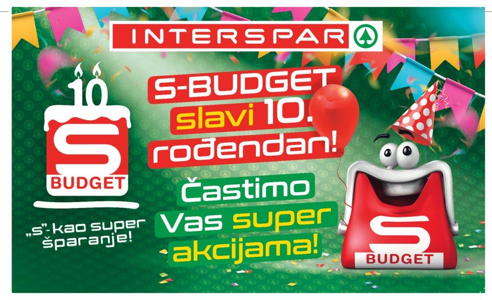 Interspar katalog S-Budget slavi 10. rođendan 10.01.-16.01.2018.