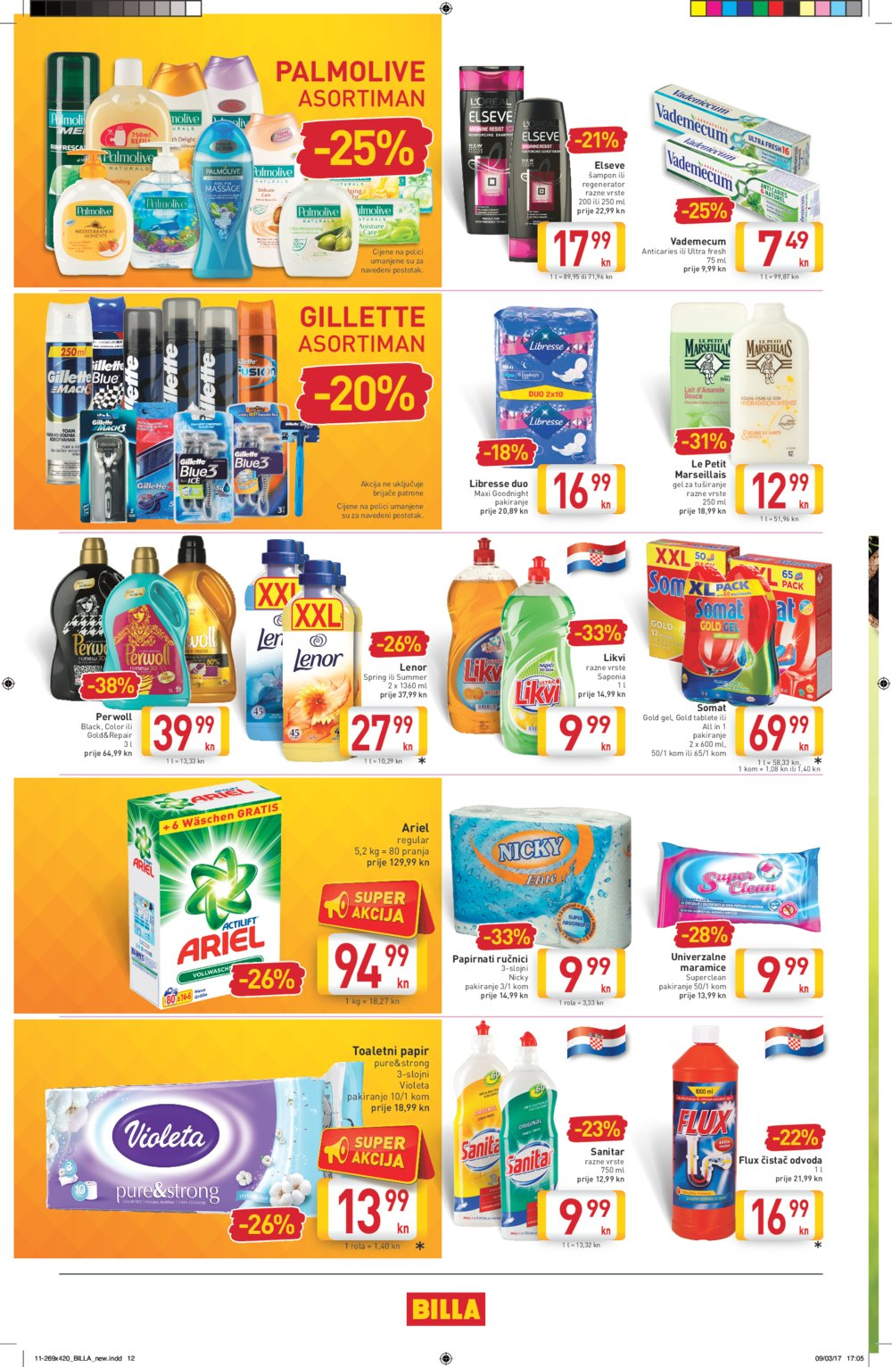 Billa katalog Akcije do 22.3.2017.