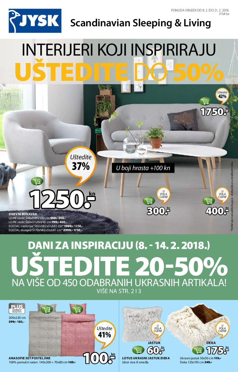 Jysk katalog Akcija 08.02.-21.02.2018.