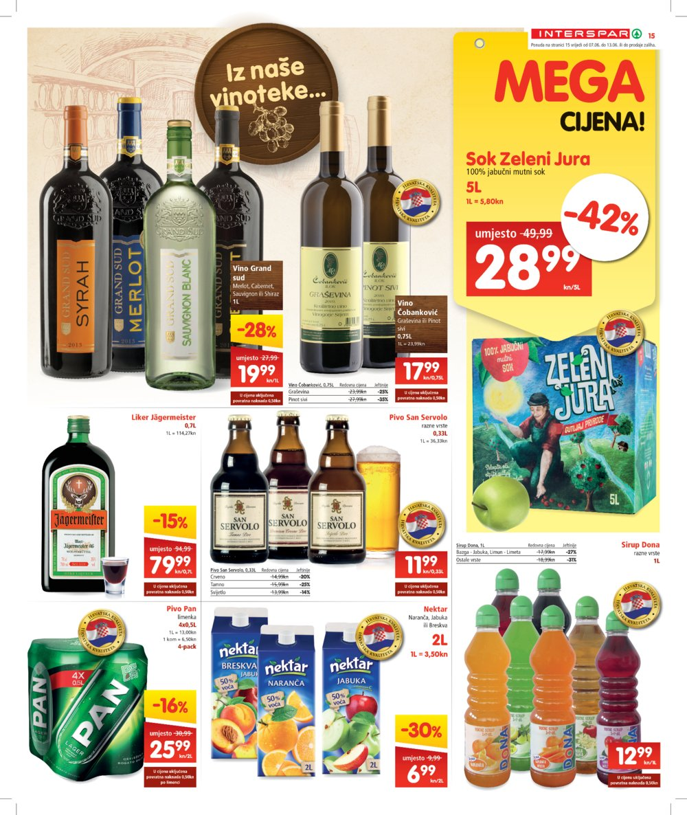 Interspar katalog Akcija od 07.06. do 20.06.
