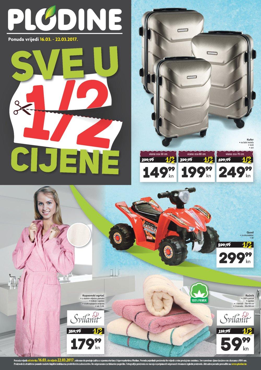 Plodine katalog Sve u pola cijene do 22.03.2017.