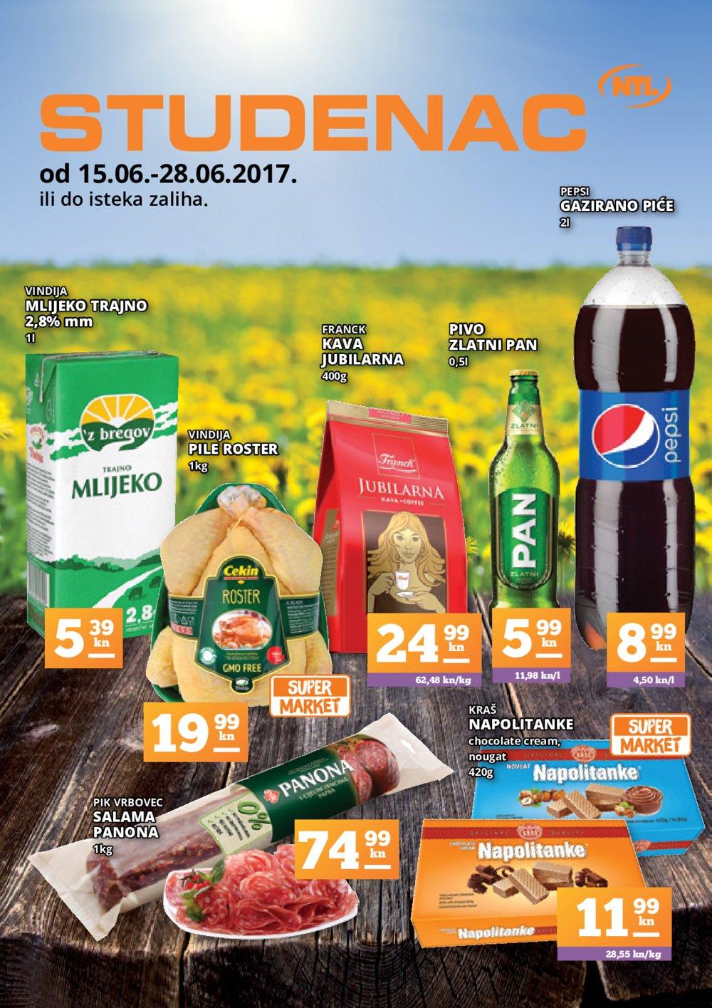 Studenac katalog 15.06. do 28.06.2017.