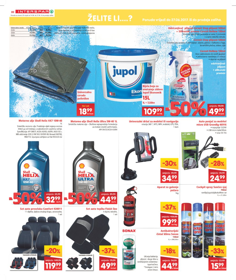 Interspar katalog Akcija od 14.06. do 27.06.2017.
