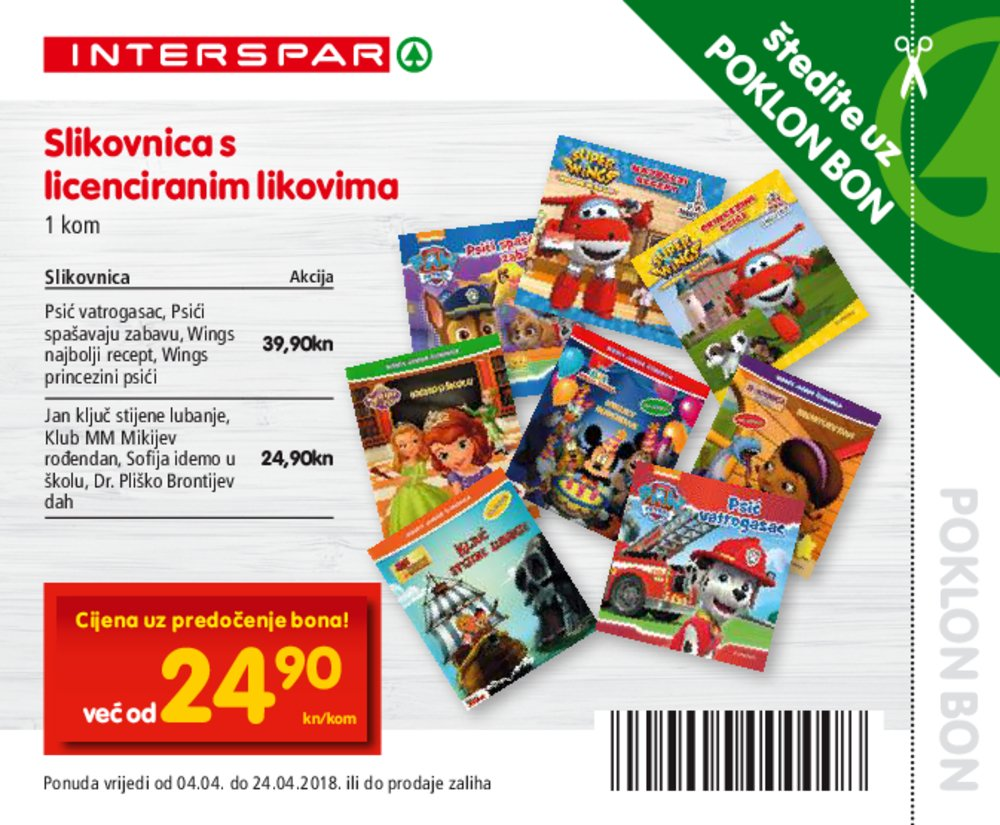 Interspar Bonovi Akcija Hipermarketi od 04.04.-24.04.2018.