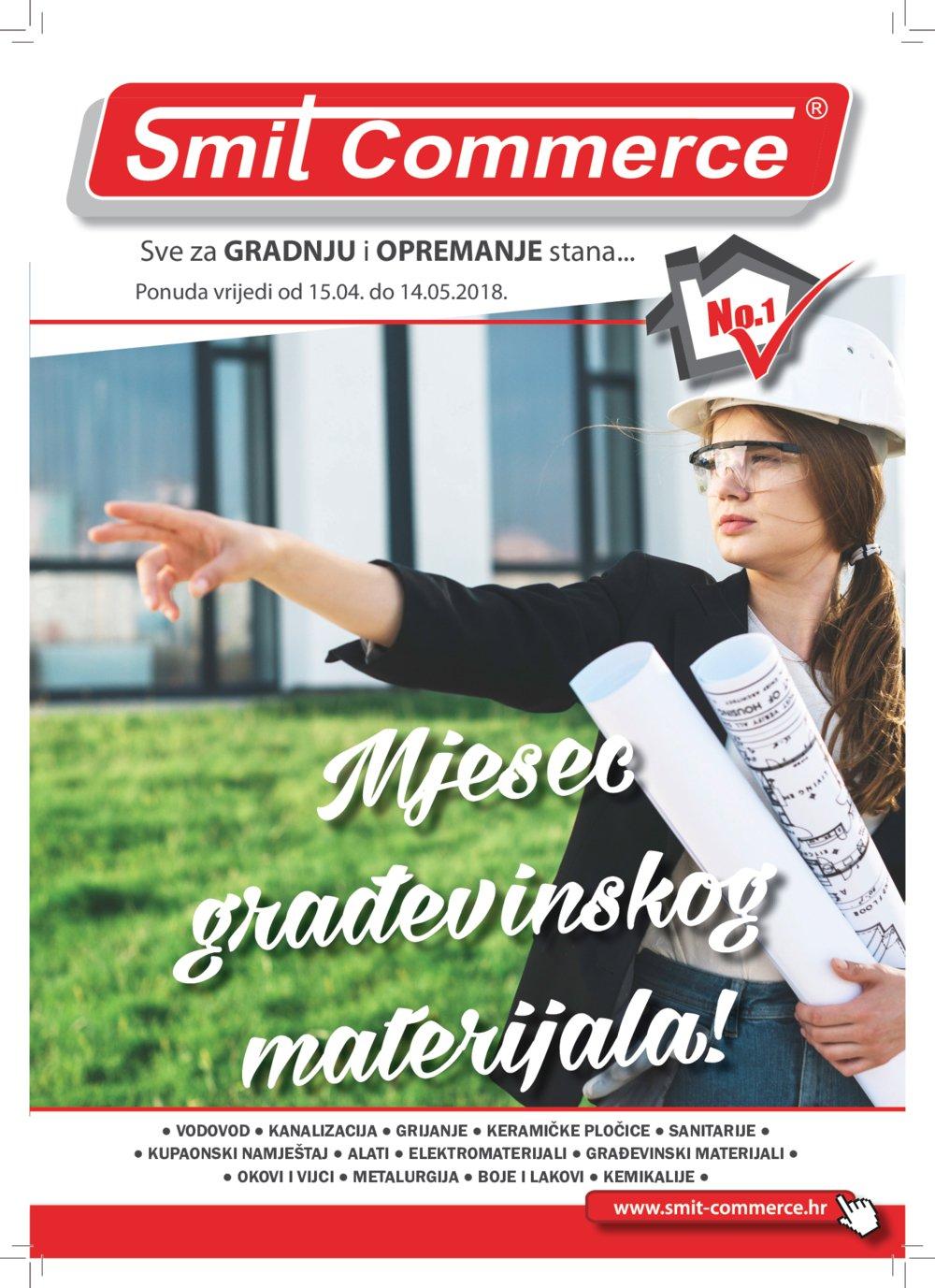 Smit Commerce katalog Sve za gradnju i opremanje stana 15.04.-14.05.2018.