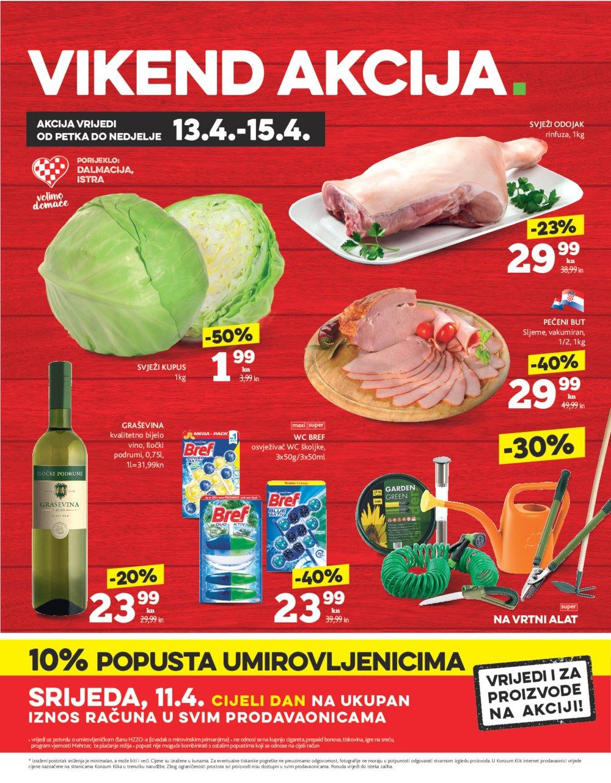 Konzum katalog Akcija od 12.04. do 18.04.2018.