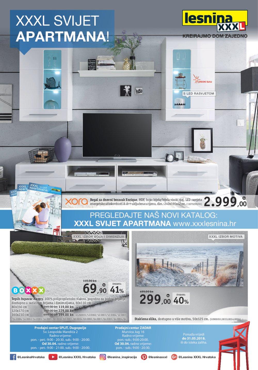 Lesnina letak XXXL Svijet apartmana 18.04.-31.05.2018