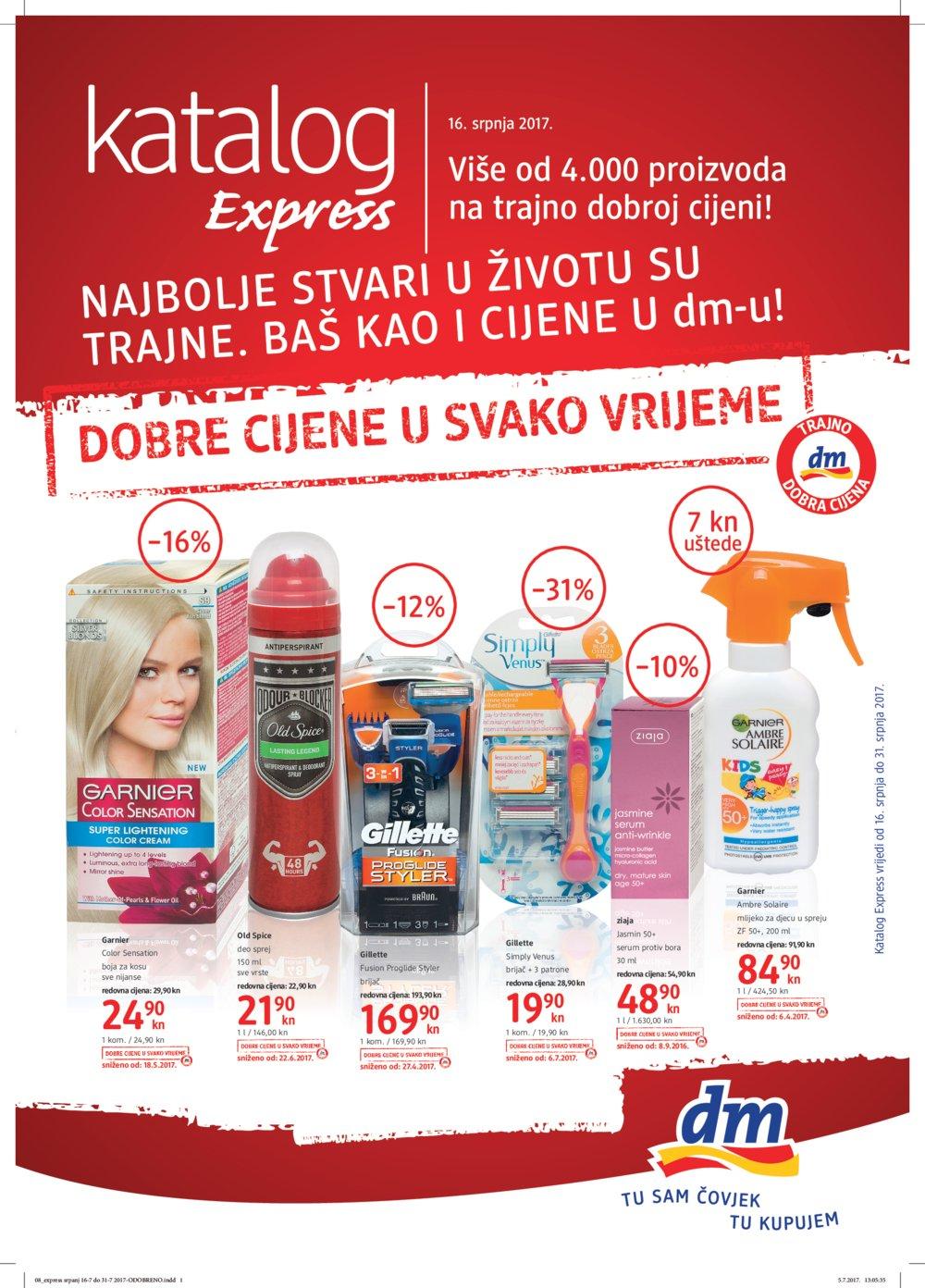 dm katalog Express 16.07.-31.07.2017.