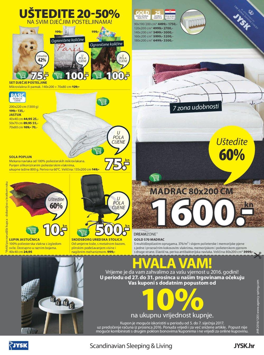 Jysk katalog do 11.01.2016.