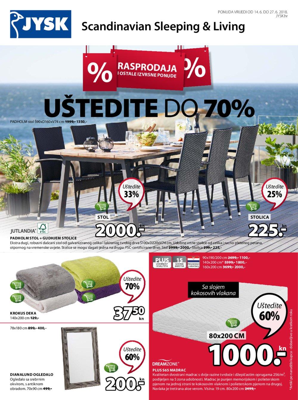 JYSK katalog Akcija 14.06.-27.06.2018.