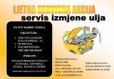 Ljetna servisna akcija - servis izmjene ulja do 31.07.2018.