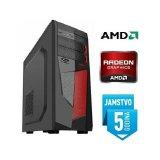 Računalo INSTAR Gamer Cyber, AMD 9600 up to 3.4GHz, 8GB DDR4, 1TB HDD, AMD Radeon RX550 2GB, 5 god jamstvo - AKCIJA