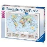 Slagalica RAVENSBURGER, Political World Map, politička mapa svijeta, 1000 komada