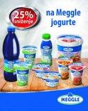 -25% na jogurte Meggle