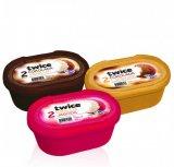 Sladoled vanilija-čokolada, vanilija-jagoda ili čokolada-lješnjak Twice Ledo 1 l