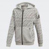 adidas YB LOGO FZ HOOD, dječja majica, siva