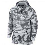 Nike M NK DRY HOODIE HPR FLC CLOUD, muški pulover, siva