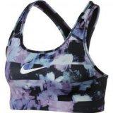 Nike NIKE PRO CLSC SWSH BRA FLWR JM, ženska fitnes majica, crna