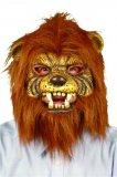 Maska gumena tigar s kosom 1 kom