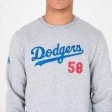New era team script losdod, muški pulover, siva
