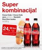 Akcija Super kombinacija! na Coca-cola ili Coca-Cola zero i Sendvič Don Don šunka