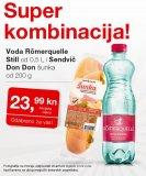 Akcija Super kombinacija voda Romerquelle Still i sendvič Don Don