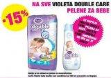 -15% popusta na sve Violeta Double care pelene za bebe + uz kupnju gratis omekšivač