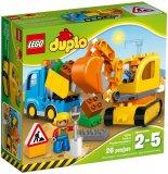 Set LEGO kocke Duplo - Truck & Tracked Excavator (10812)