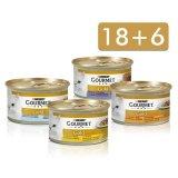 Gourmet Gold Mix konzerve - Gourmet Gold Mix konzerve - GOURMET Gold konzerve Govedina/Riba/Janjetina/Piletina 85g 18+6 gratis, komadići