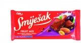 Čokolada s mljevenim lješnjacima, fruit mix Smiješak 100 g