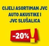 -20% na cijeli asortiman JVC auto akustike i JVC slušalica