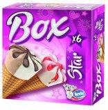 Sladoled kornet box vanilija, čokolada i jagoda Ledo 6x120 ml