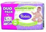 Maramice Baby soft sensitive Violeta 2x56 kom