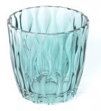 Čaša staklena- smaragdno zelena