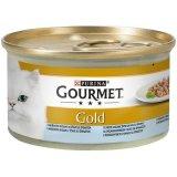 Gourmet Gold konzerva Riba/Špinat komadići u umaku 85g