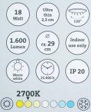 LED plafonjera Simpex 25073 18 W