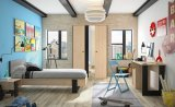 Duplex radni stol 1 vrata + 2 ladice 120x56x75cm