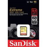 Memorija SDXC 64GB SanDisk Extreme Secure Digital P/N: SDSDXVE-064G-GNCIN