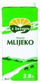 Trajno mlijeko 2,8% m.m. 'z bregov, 2 l