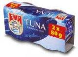 Tuna komadi u biljnom ulju Eva 2x80 g