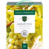 Vino kvalitetno bijelo graševina Iločki podrumi 3 l