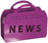 "Stalak za novine ""NEWS"" 38/28/10cm"