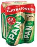 Pivo zlatni Pan 4x0,5 l