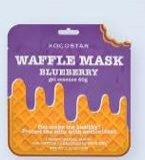 Maska za lice u maramici borovnica Waffle Kocostar