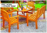 "Stol + klupa + 2 stolice ""Eden"""