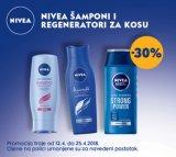 -30% popusta na Nivea šampone i regeneratore za kosu