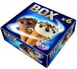Sladoled kornet box čokolada i vanilija Ledo 6 x 120 ml